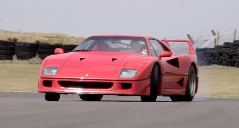 Video: Harris Smokes Tires in the F40 and F50!